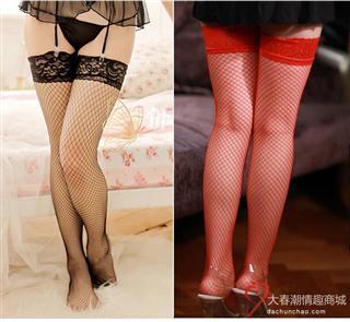丝袜/网袜性感蕾丝长筒小网袜 诱人黑丝袜