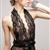 VitaBilla唯它彼乐 挂脖深V魅惑礼物半透明睡裙 图片3