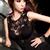 弹力针织奢华秘书镂空性感修身超短包臀裙 图片2