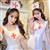 霏慕性感护士制服白色缎面套装 图片3