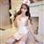 霏慕性感护士制服白色缎面套装 图片4