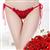 玫瑰花开档内裤女士性感情趣内裤 图片1