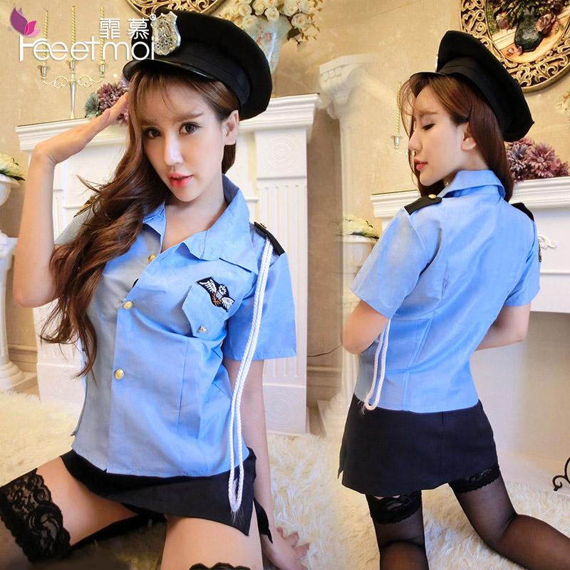 女警制服诱惑 性感女警角色扮演情趣内衣